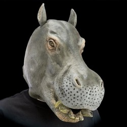 Masque d'hippopotame en latex
