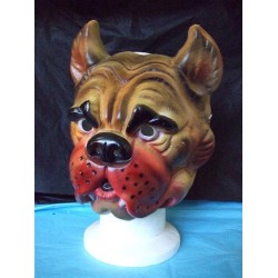 Masque de chien Bouledogue en plastique rigide