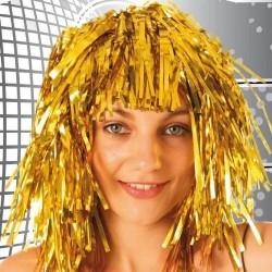Disco or Perruque lamée dorée