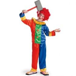 Clown multicolore taille enfant 8 à 9 ans