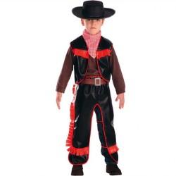 Cow boy enfant rouge et marron 6/7 ans costume déguisement