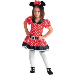 Minnie enfant 6/7 ans petite souris rouge à pois blanc