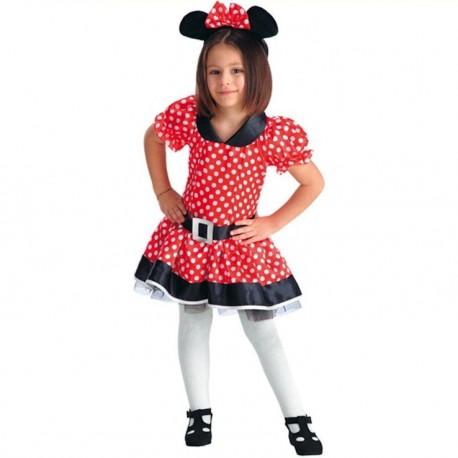 minnie-enfant-6-7-ans-petite-souris-rouge-a-pois-blanc