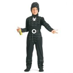 Garçon araignée noir et argent spiderboy 4/5 ans