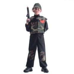 Militaire combinaison et glet camouflage soldat avec casquette taille enfant 6/7 ans
