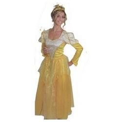 Princesse Jaune et doré satin et organza taille S