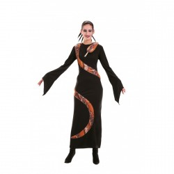 robe-noire-avec-serpent-imitation-naturel-taille-38