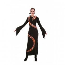 Robe noire avec serpent imitation naturel taille 42