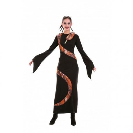 robe-noire-avec-serpent-imitation-naturel-taille-42