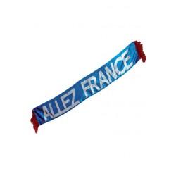 """Écharpe """"Allez France"""" en tissu 120 cm x 16 cm tricolore"""