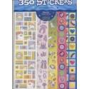 10 feuilles de 35 stickers de princesses et licornes Autocollant