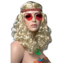 perruque-blonde-frisee-hippie-avec-bandeau-de-couleur