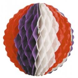 Boule alvéolée ignifugée bleu blanc rouge de 25 cm tricolore France coupe du monde