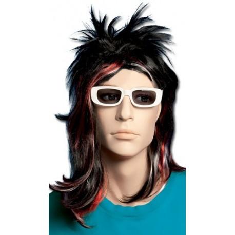 perruque-noire-punk-tokyo-mechee-rouge-et-blanche