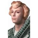 Perruque blond doré coiffée à la Johnny