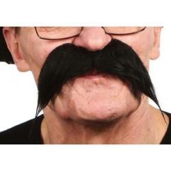 Moustache longue noire postiche