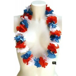 Collier hawaïen Collier de supporter bleu blanc rouge France coupe du monde
