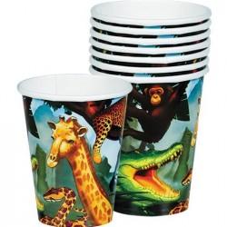 8-gobelets-animaux-safari-jungle-savane-266-ml-en-carton