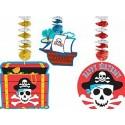 3 décorations à suspendre pirates sur virvatelles