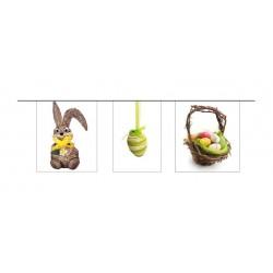 Guirlande Pâques 8 fanions 5 m oeufs et lapins
