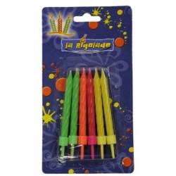 12-bougies-fluo-avec-bobeches-assorties-sur-la-bougie