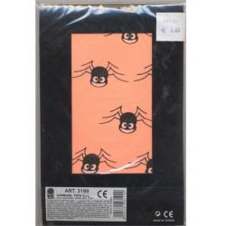 Collants orange fluo enfant araignées souriantes