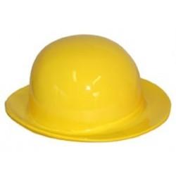 Chapeau melon jaune en plastique