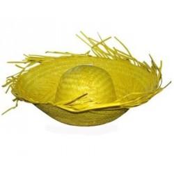 Antillais jaune paille planteur frangé Chapeau Tahiti hawaï cara