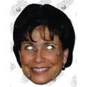 Anne Sinclair masque en carton photo d'une personnalité
