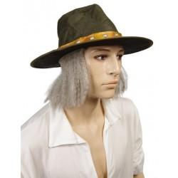 Chapeau vert de savant illuminé comme dans explorateur
