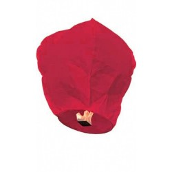 Lanterne céleste rouge framboise sky lanterne bougie intégrée