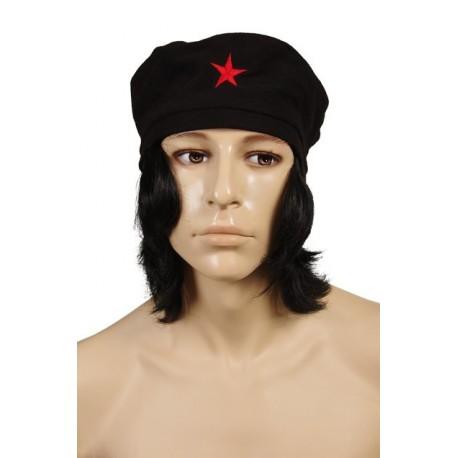 perruque-beret-du-che-avec-etoile-rouge-brodee