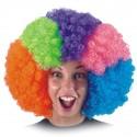 Perruque afro arc-en-ciel Pop frisée multicolore grand modèle