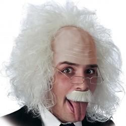 Perruque gris platine de savant fou chirurgien déjanté chimiste