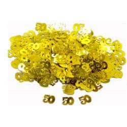 Confettis de table 50 ans dorés Noces d'or Sachet de 14 gr