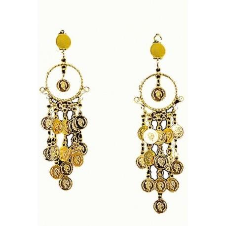 sélection premium 1b727 ea867 Boucles d'oreilles or en sequins orientale ou gitane - Festi Fiesta