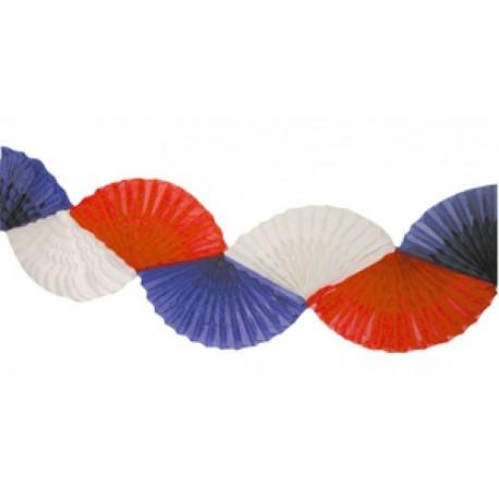 Guirlande ventail tricolore bleu blanc rouge 3 m tres - Comment fabriquer une coupe du monde en papier ...