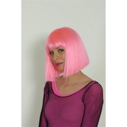 Perruque carré rose vif coco