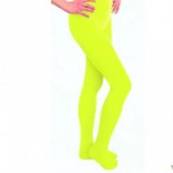 Collants vert jaune fluo néon opaques XXXL 48/54