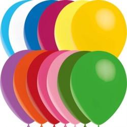 100 Ballons de baudruche standard couleurs assorties 30 cm Ø