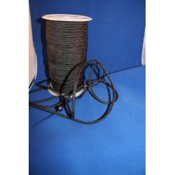 1 mètre cordon noir lacet de 5 millimètres de large