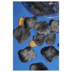 164-petales-de-rose-et-petites-feuilles-en-tissu-noir