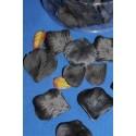 164 pétales de rose et petites feuilles en tissu noir