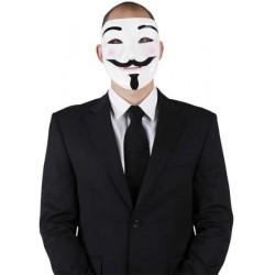 Masque anonyme anonymous mystique en papier mâché