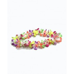 12 colliers hawaiens multicolores