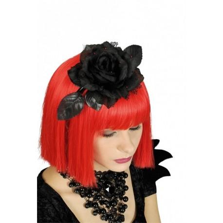 fleur-noire-avec-gouttes-de-sang-sur-serre-tete-noir