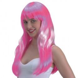 perruque-longue-a-frange-couleur-rose-mechee-de-blanc