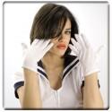 Gants courts adulte couleur blanche