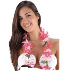collier-hawaien-rose-vif-fleurs-legeres