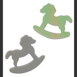 confettis-de-table-cheval-a-bascule-blanc-irise-10grs